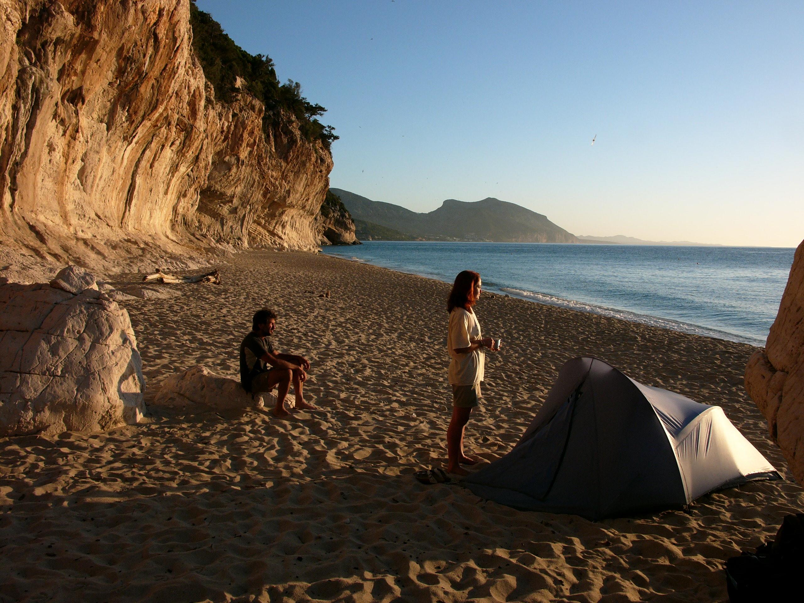 Cammino in tenda